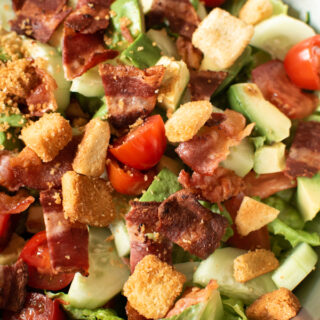 The easiest recipe for BLT salad.