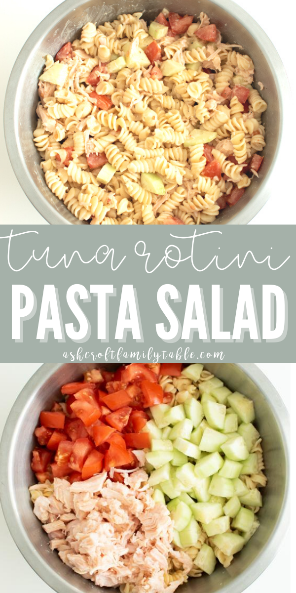 Try this easy rotini pasta salad recipe made with tuna and Italian salad dressing.
