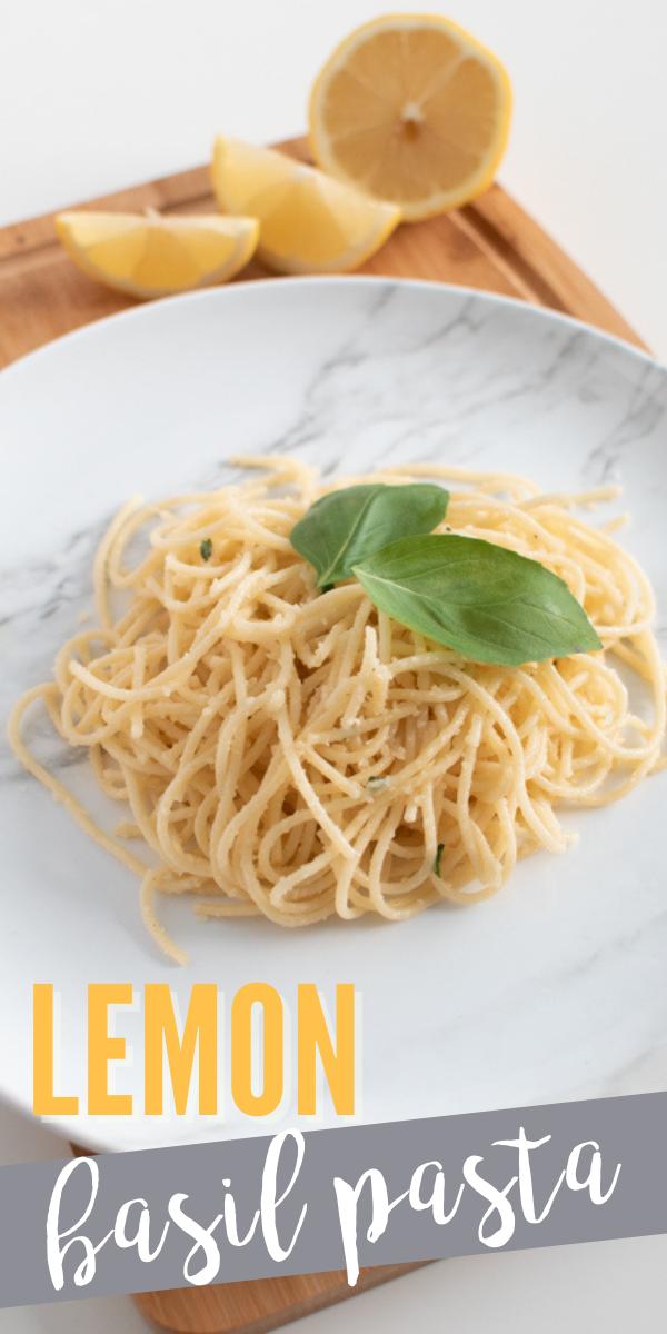 Try this simple one pot lemon basil pasta recipe for dinner tonight!