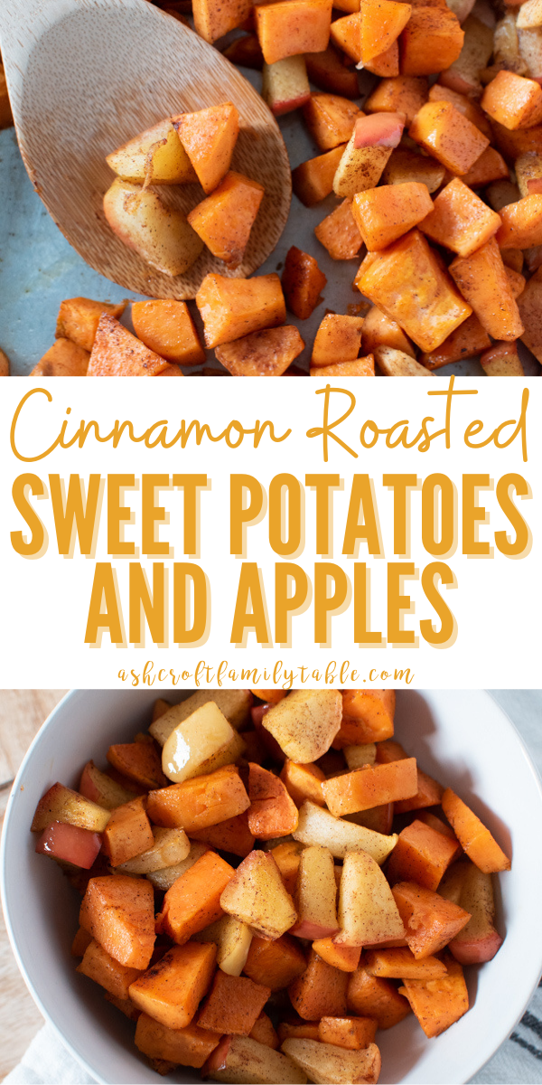 Try this healthy oven roasted sweet potatoes and apples recipe, perfect for fall!