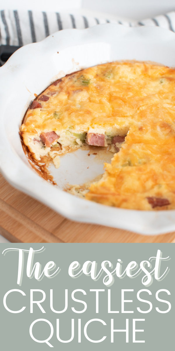 Here's an easy and healthy crustless quiche recipe for breakfast or brunch!