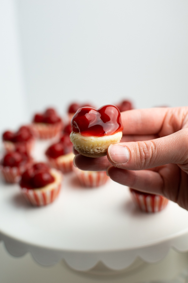 Mini cheesecakes with vanilla wafers.