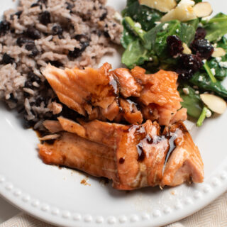 Salmon recipe with brown sugar.