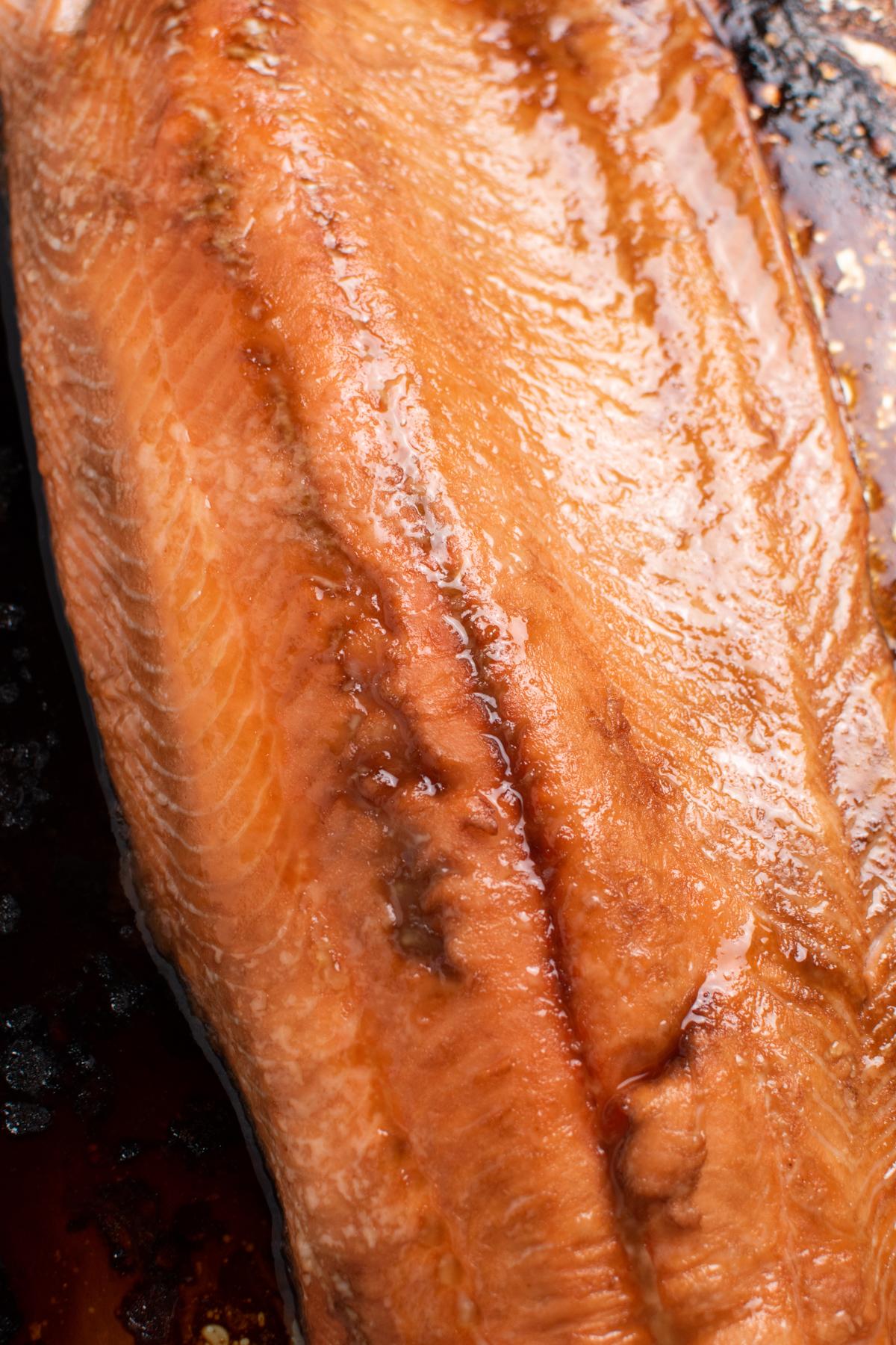 Soy sauce salmon fillet.